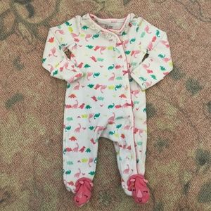 Just One You Carter's Pink Dino Sleeper NB